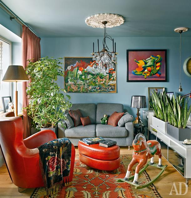 Квартира декоратора  в Москве, 37 м²
