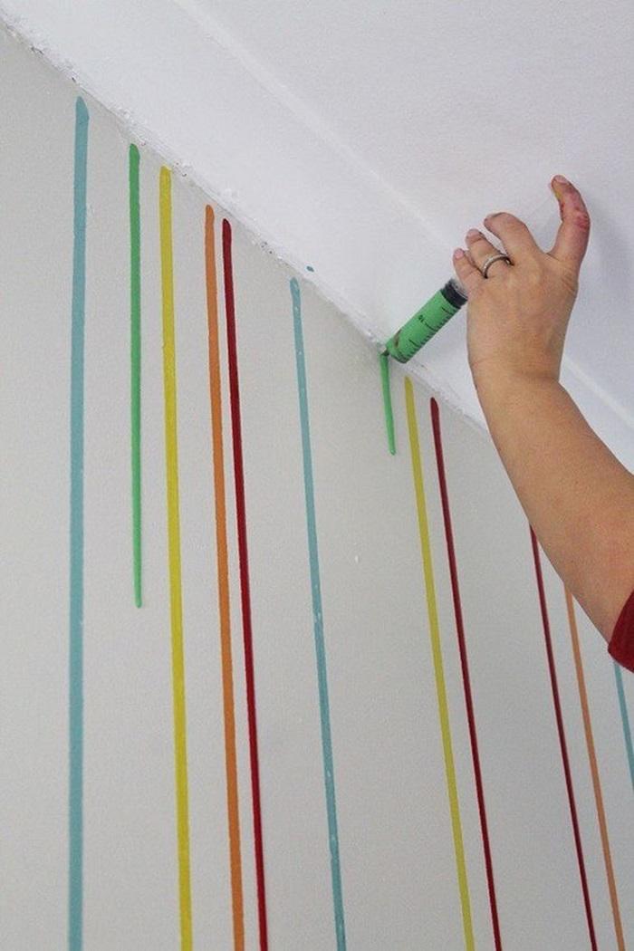 разрисовать стену своими руками