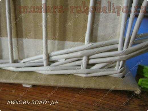 Мастер-класс по плетению из газет: Коробка с выступающим дном