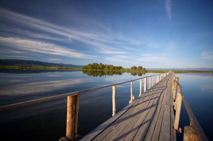 Загадочное озеро сибири-тере-холь природа, сибирь
