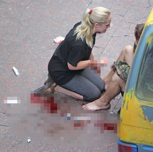 При взрыве на Майдане пострадали два человека