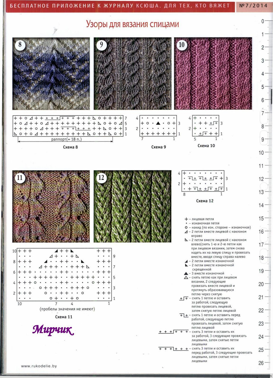 Узоры и схемы вязания спицами описание 83