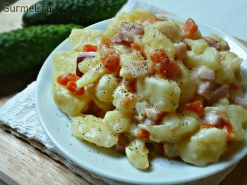 P1110601 500x375 Картофель с сыром и беконом   Gurmel
