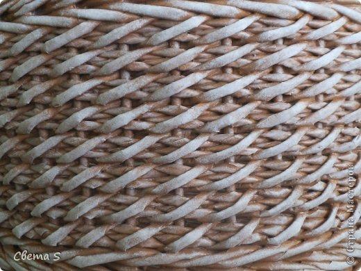 Мастер-класс Поделка изделие Плетение Корзины для овощей - Бумага газетная Трубочки бумажные фото 6