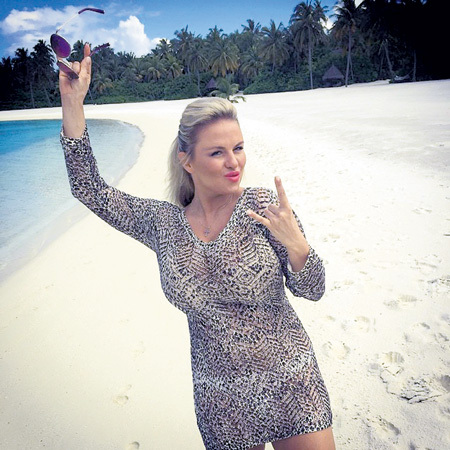 Аня отлично себя чувствует на островах