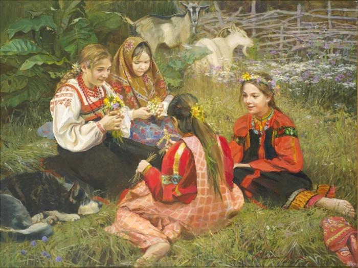 Россия патриархальная, Россия провинциальная: Проникновенные картины художницы Марии Молодых