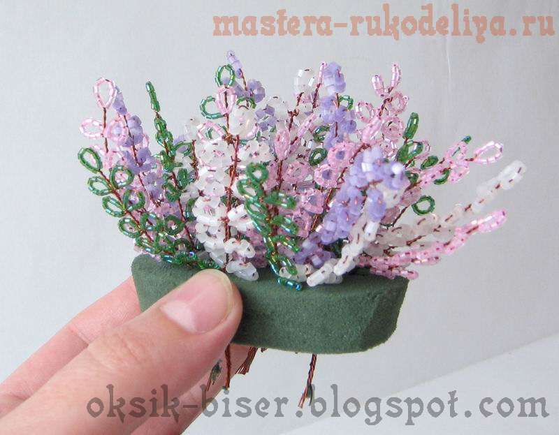 Мастер-класс по бисероплетению: Цветочная композиция