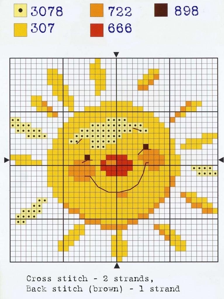 Вышивка крестом схемы солнышко