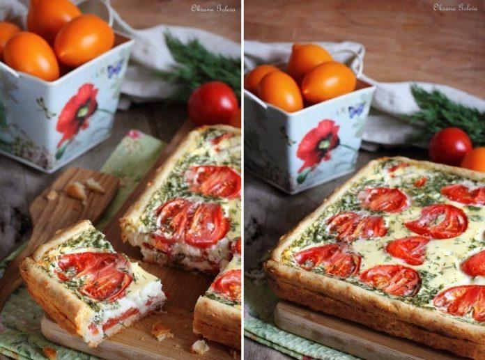 Сочный, нежный сырно-помидорный пирог на хрустящем сырном тесте — вкуснятина