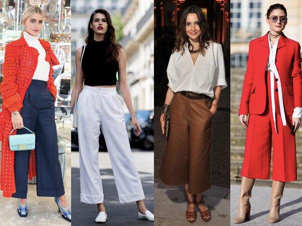 Супер модные образы с брюками на весну 2019