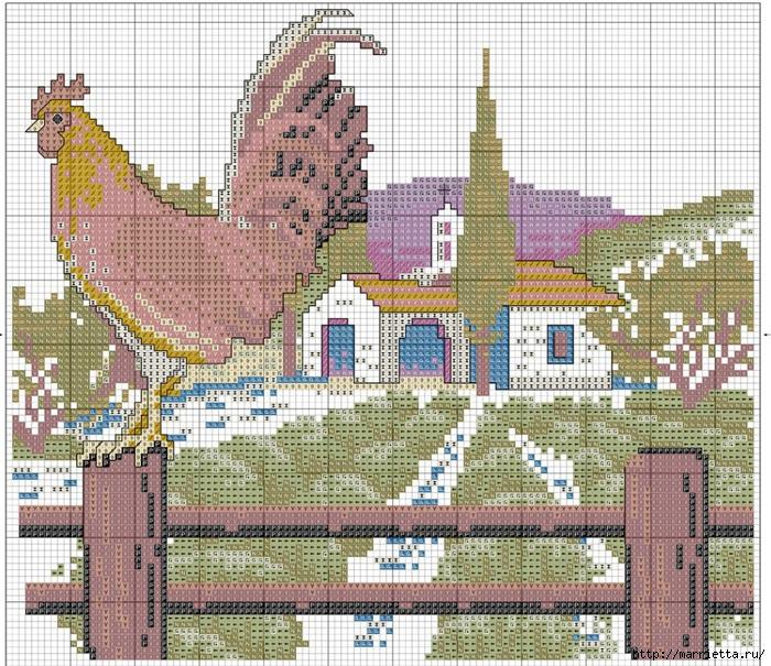 Вышивка для тех, кто мечтает о домике в деревне) (7) (700x605, 422Kb)