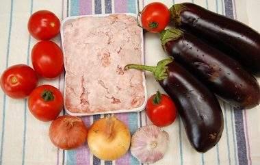 Баклажаны с фаршем по-турецки