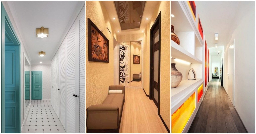 Узкий коридор: лайфхаки как визуально расширить пространство