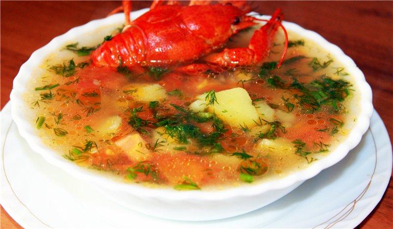 Сварить суп с раками