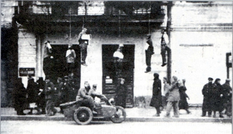 Советские граждане, повешенные немцами в первые дни оккупации Харькова