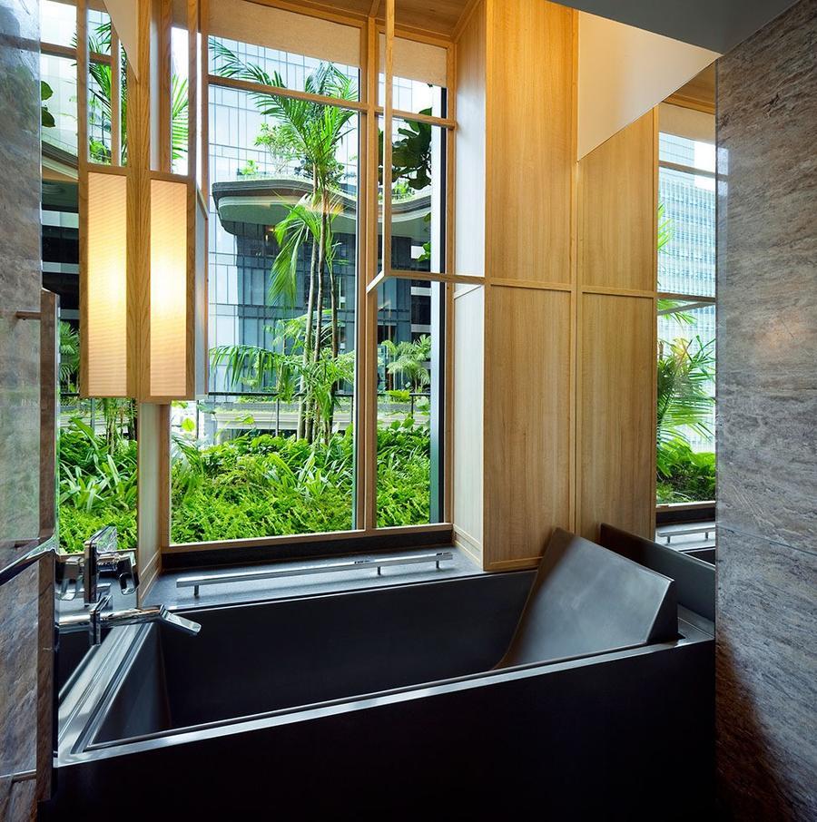 Parkroyal20 Уникальный сад на фасаде отеля в Сингапуре
