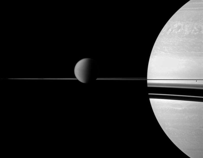 Это интересно - Сатурн со спутниками.