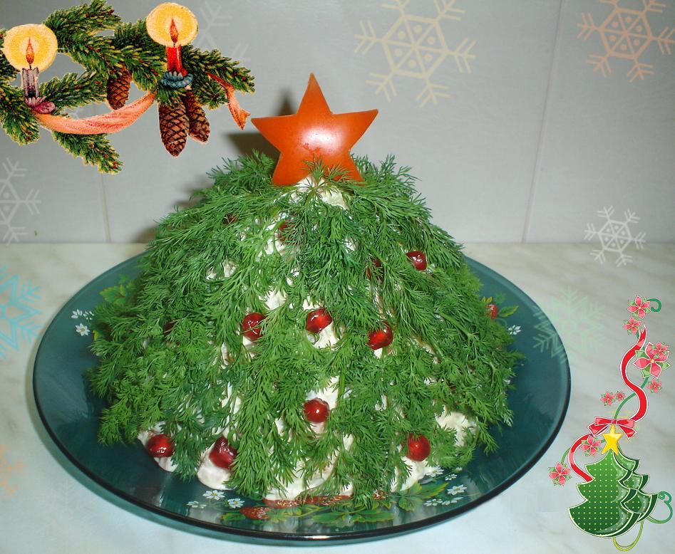 Новогоднее украшение блюд - фото 5