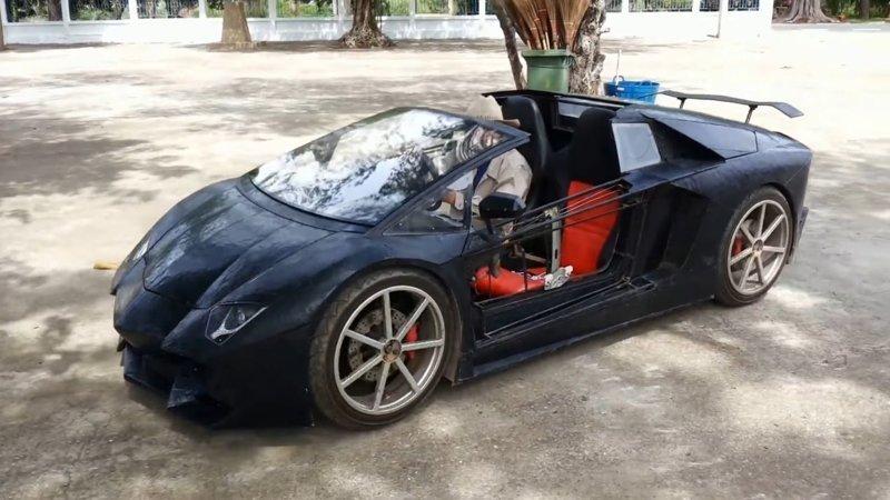Фермер построил маленький Lamborghini с двигателем от мотоцикла
