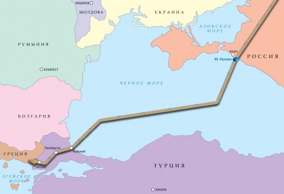«Газпром» фиксирует рост спроса нагаз помаршруту «Турецкого потока»