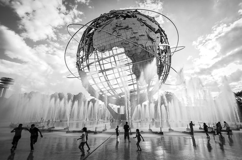 """""""Унисфера"""", Нью-Йорк, США город, достопримечательность, интересное, мир, подборка, страна, фонтан, фото"""