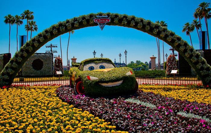 Фестиваль цветов в Диснейленде - парк EPCOT