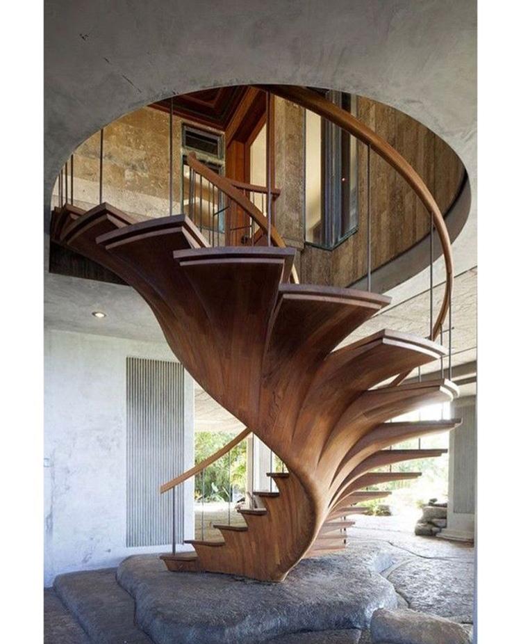 Подборка деревянных лестниц,…