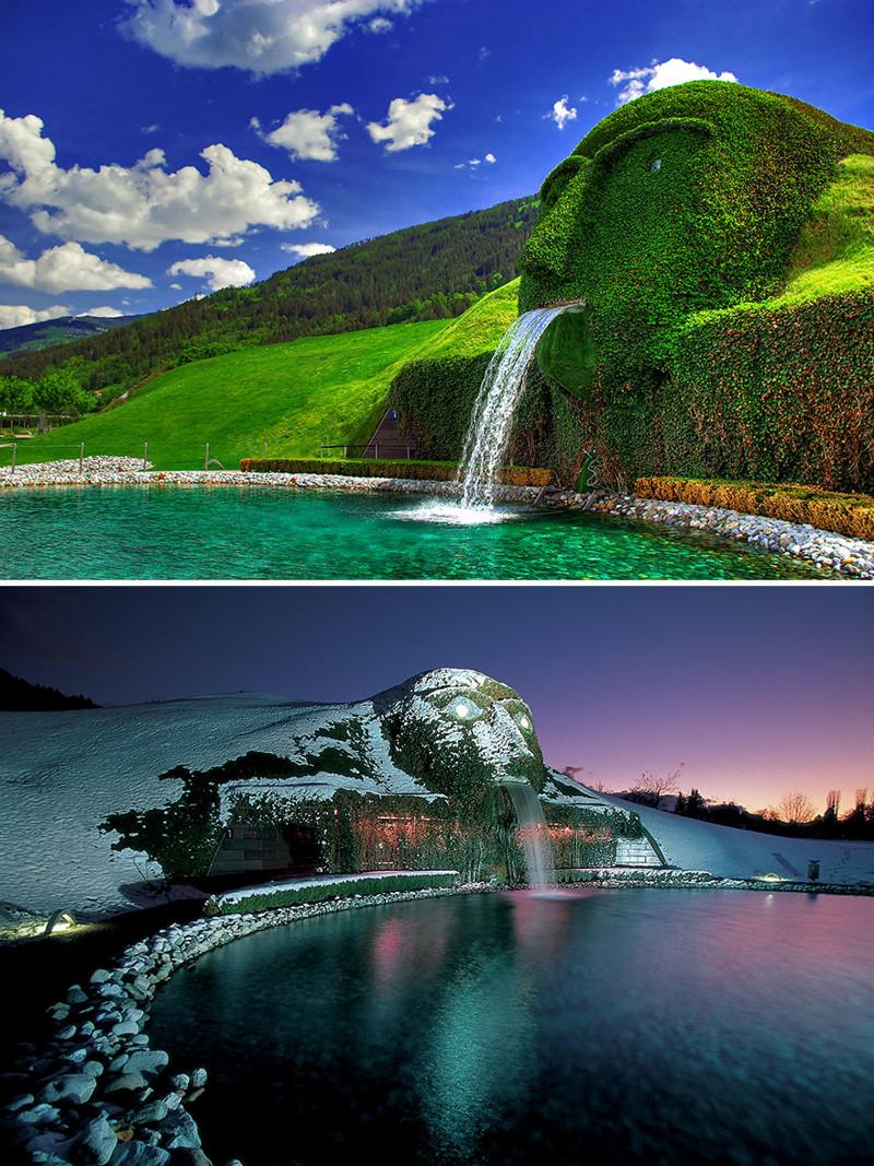 """""""Гигант"""", Ваттенс, Австрия город, достопримечательность, интересное, мир, подборка, страна, фонтан, фото"""