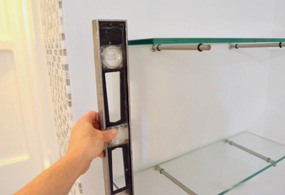 Крепление для стеклянных полок своими руками