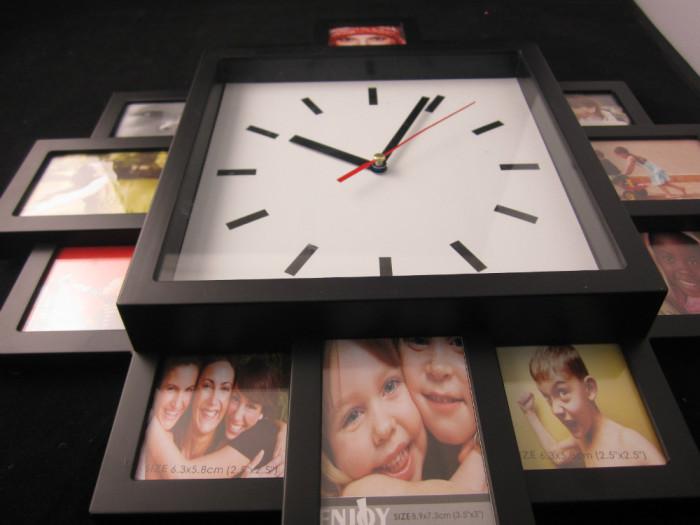 Стильные и элегантные часы с фоторамками