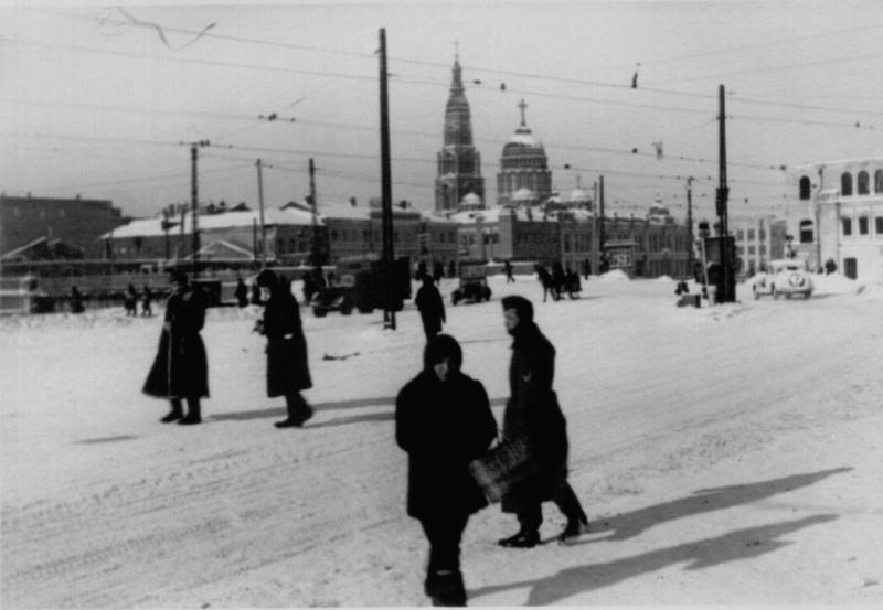Пролетарская площадь оккупированного Харькова