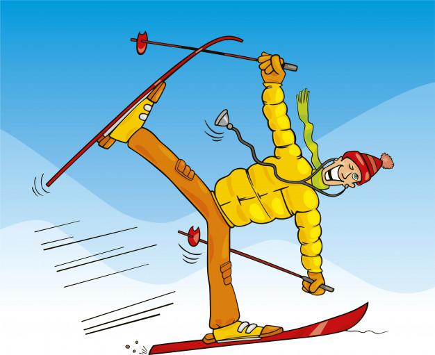 Наверно зря я встал на лыжи..