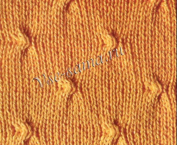 Вязание спицами с узлами 336