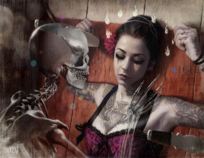 Мрачная красота женщин на картинах Тома Багшоу