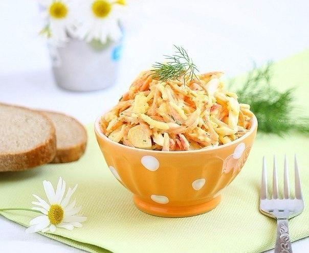Вкусный, пикантный салат «Валерия» обязательно станет изюминкой вашего праздничного стола