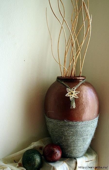 Напольная ваза из папье маше, ну до чего же красиво