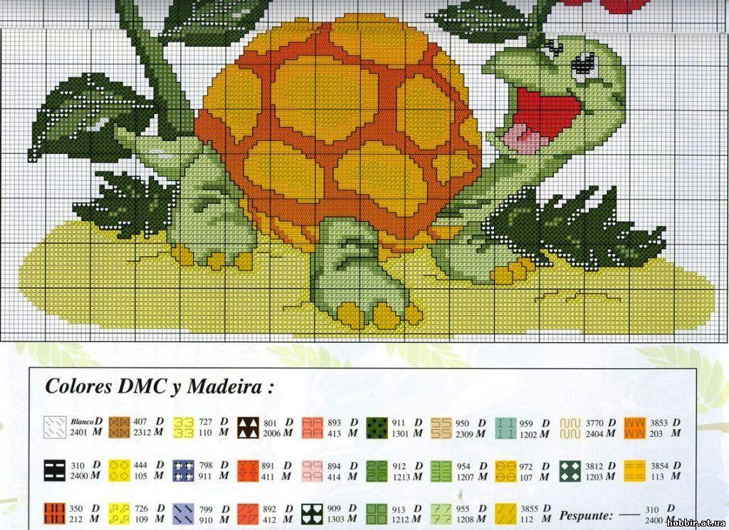 Схемы вышивок крестом черепаха