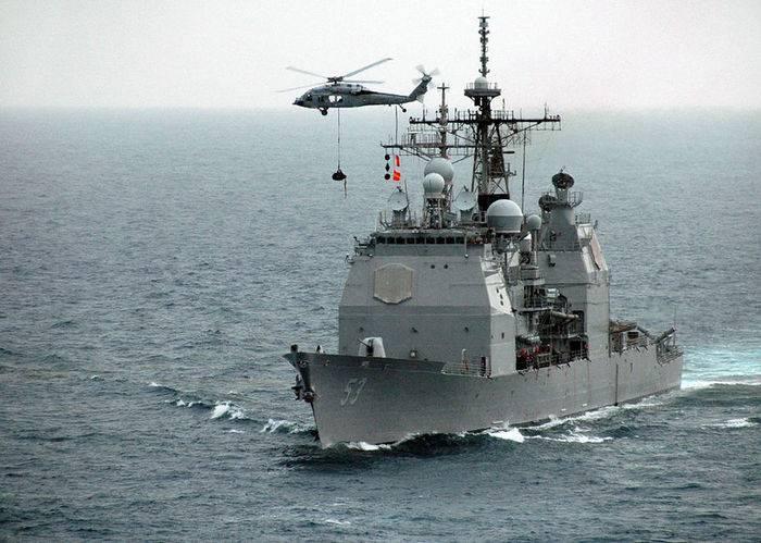 """Тридцатилетний американский крейсер обзавелся последней версией системы """"Иджис"""""""