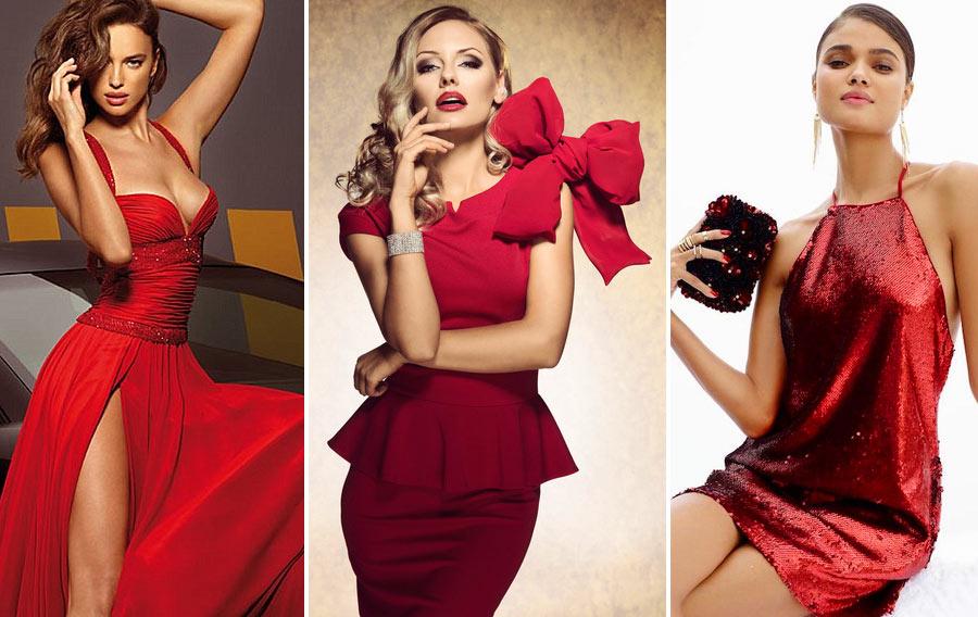 Красные платья для Нового года 2018