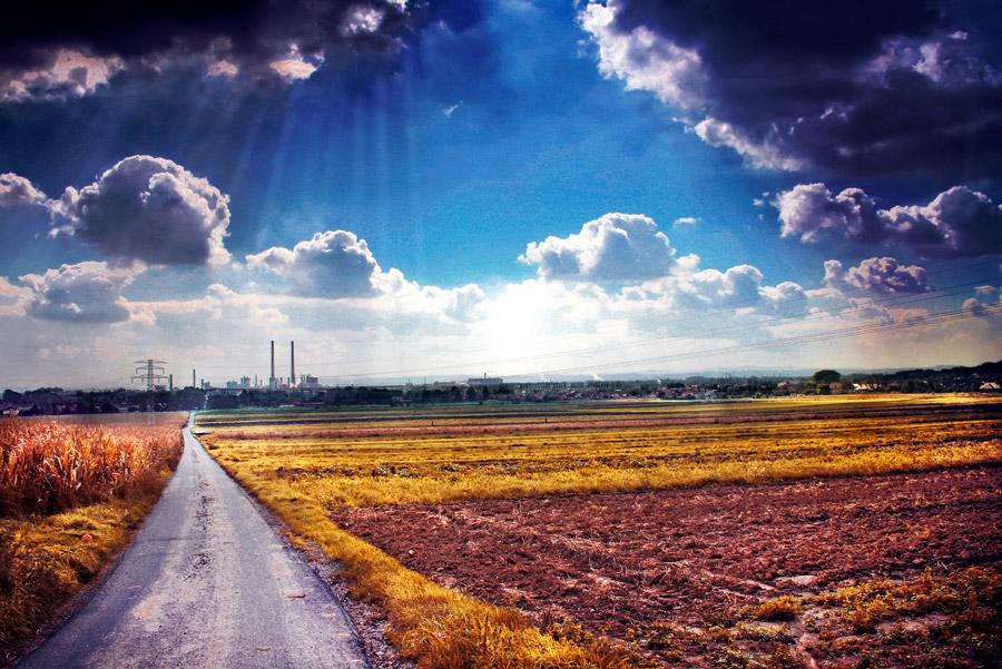 красивое голубое небо