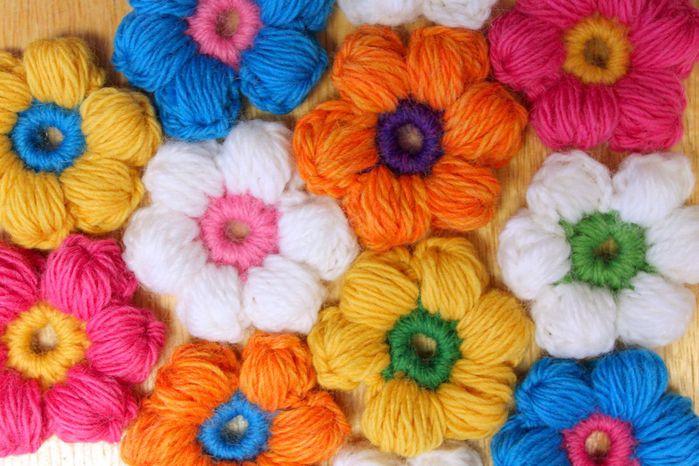 Мастер-класс: цветок из пышных столбиков