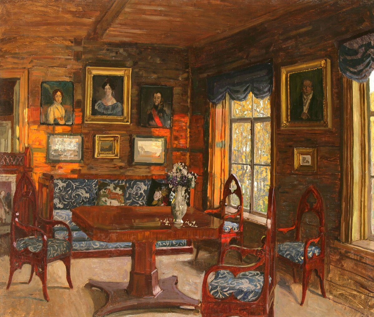 """""""Былое. Комната старого дома"""", 1912, холст, масло"""