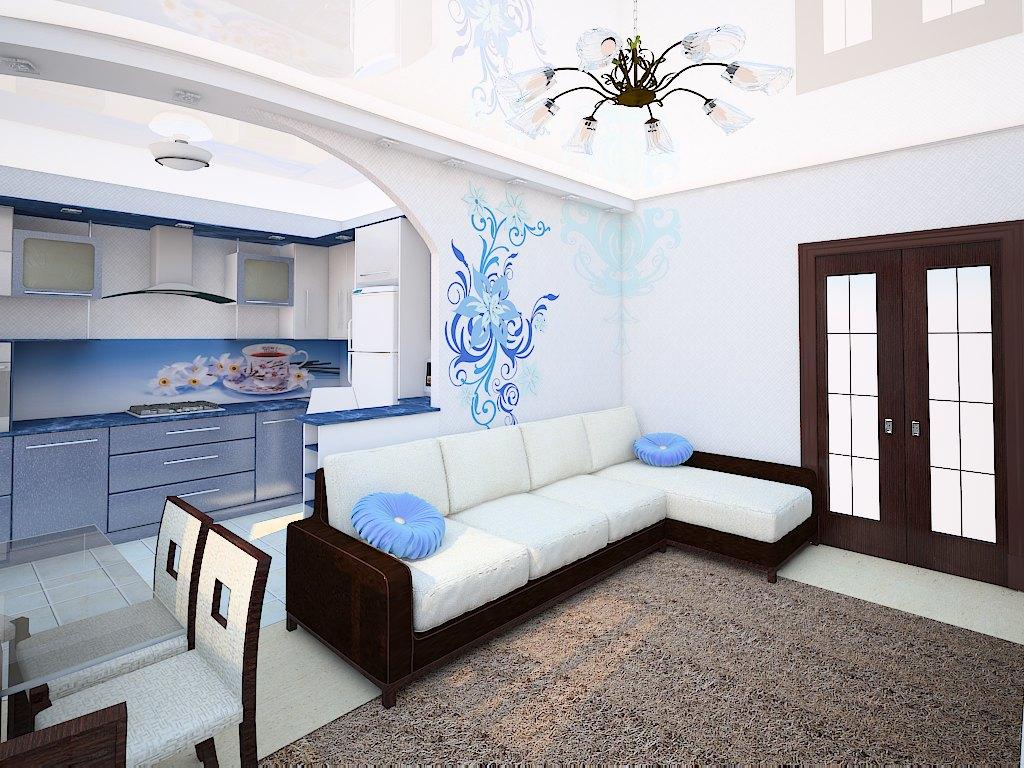 Дизайн гостиной 15 кв.м