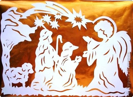 Вытынанка: Рождественские вытынанки Бумага Рождество. Фото 2