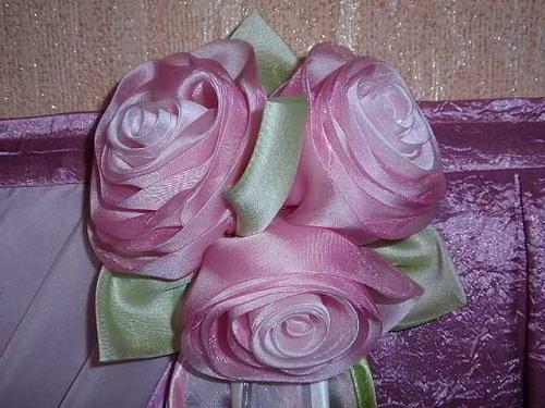 Шторы цветы из ткани