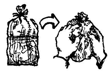 Стирка в «походных» условиях в ПЭТ-пакетах