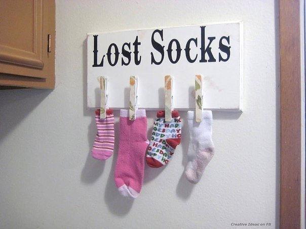 Идея: доска для носков без пары :)