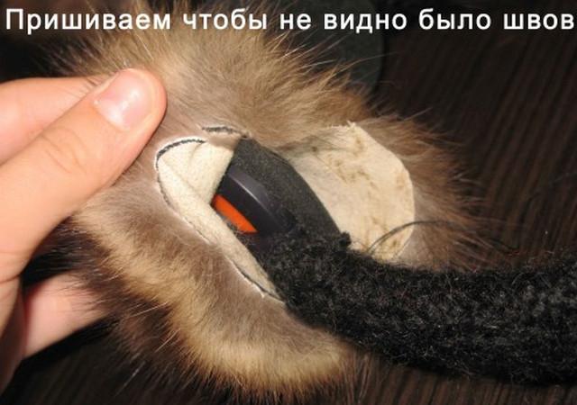 Как сделать меховые наушники из ободка своими руками 91