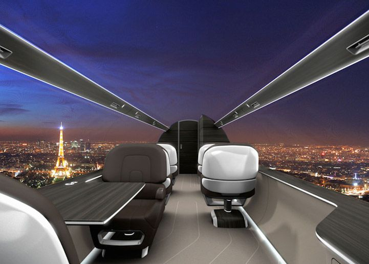 Plane without windows, but with a panoramic view of technology, the plane, it is interesting