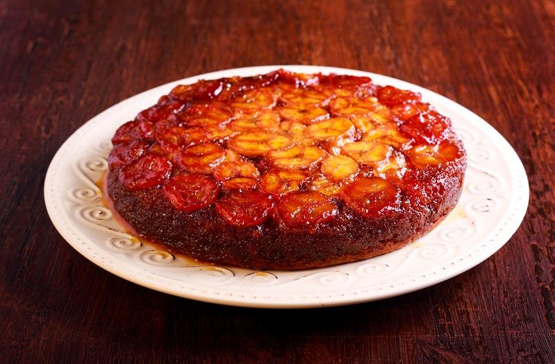 перевернутый пирог с яблоками